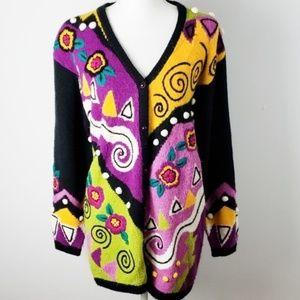 Side Effects : Mixed Media Wearable Art Sweater
